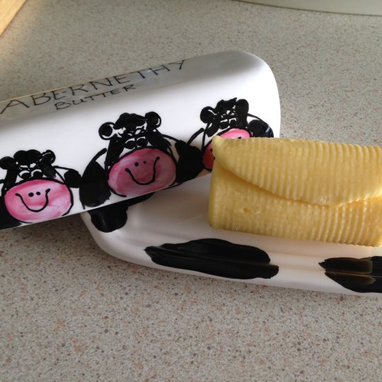 Butter Dish with Cows